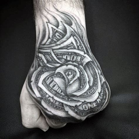 black and white rose tattoos for men 80 money designs for cool currency ink