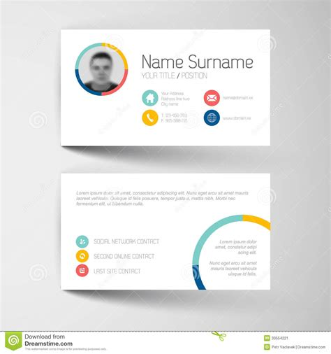 royalty free word compatible business card templates modern business card template with flat user interface