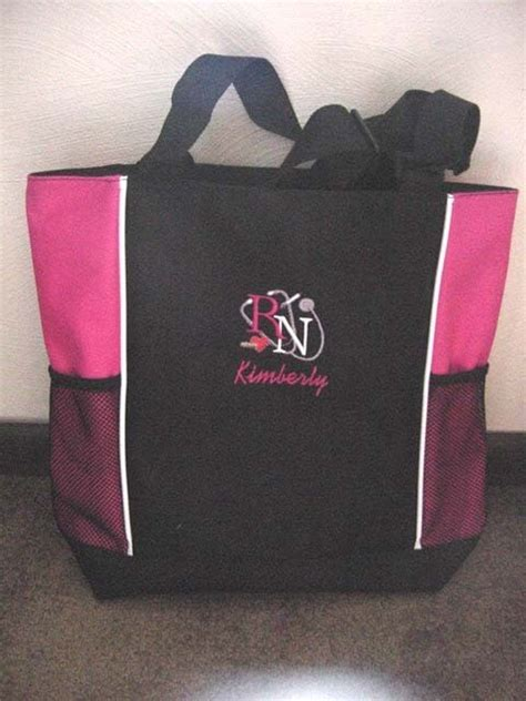 personalized rn student hospital tote duffle bag w
