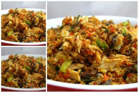 resep ikan tongkol suwir masak pedas istimewa oke meals