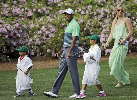master s tiger woods and girlfriend lindsey vonn at the masters