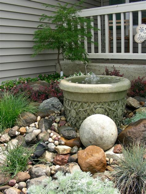 small backyard rock gardens small rock garden and fountain waterfall creations