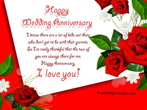 Wedding Anniversary Message To My by Wedding Anniversary Messages For Parents Wordings And