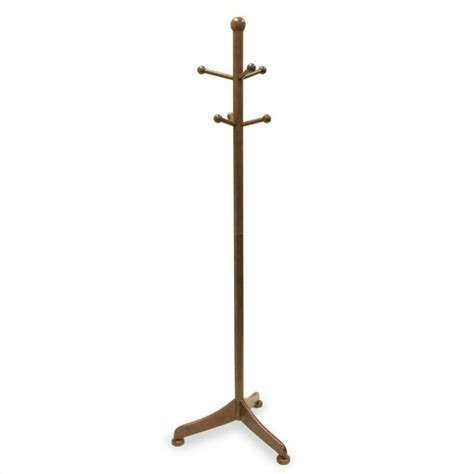 winsome 6 pegs standing antique walnut coat rack ebay