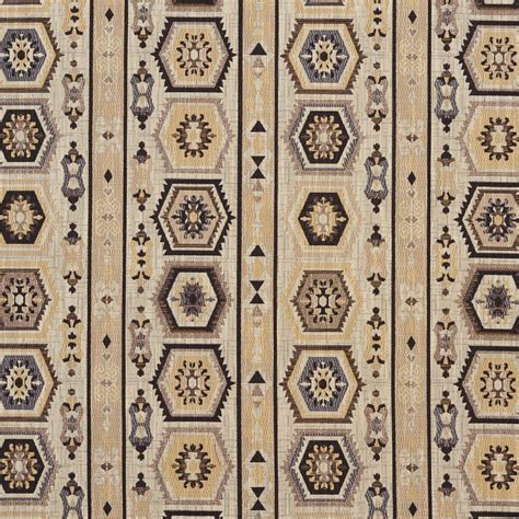 Upholstery Fabric Sle Books by E716 Gold And Black Woven Southwestern Geometric Stripe