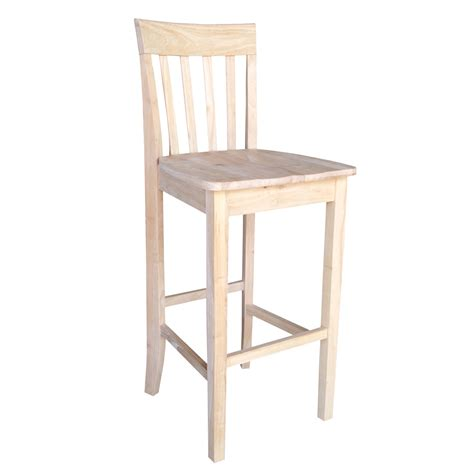 Unfinished Wood Bar Stool Unfinished Wood Bar Stool Empire 30 Inch Unfinished Wood Bar Stool International Concepts Bar