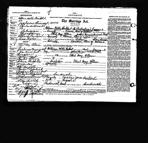 Essex County Marriage Records Buchheit History