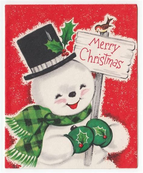 images  christmas vintage snow people  pinterest candy canes snow  greeting