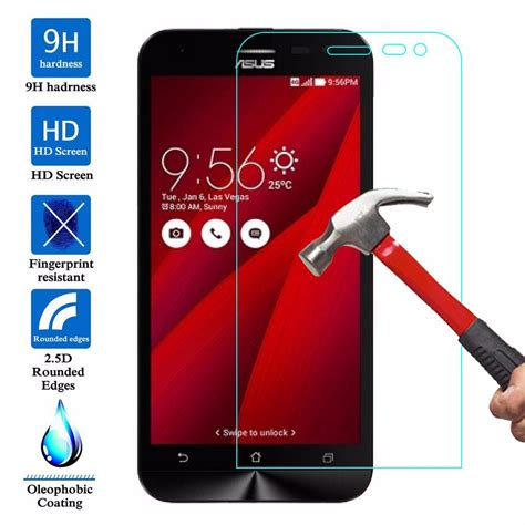 Tempered Glass Asus Zenfone Go New 50inc Zb500kl Anti Gores Kaca glass screen protector for asus zenfone go zb500kg zb500kl zb551kl 2 ze551ml 5 zenfone 2