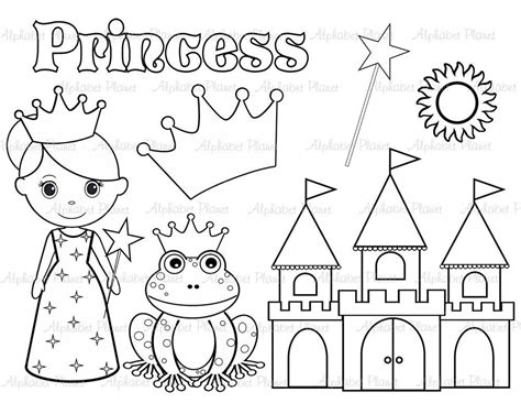 princess clipart black  white cookie inspiration