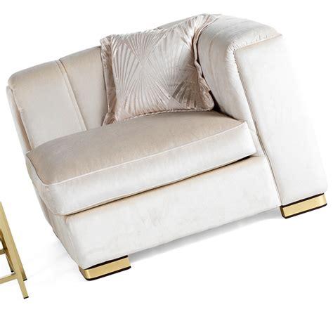 designer velvet luxury corner armchair