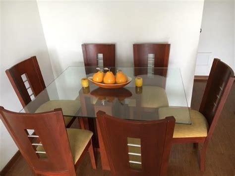 decoracion comedor mesa de vidrio juego comedor mesa vidrio anuncios septiembre clasf