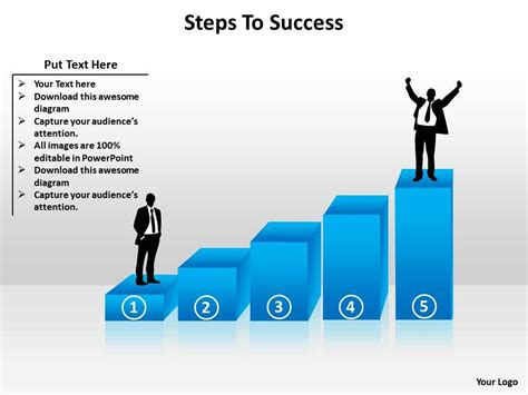 climbing stairs to success