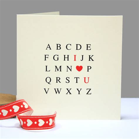i you cards alphabet i you card by betsy jarvis
