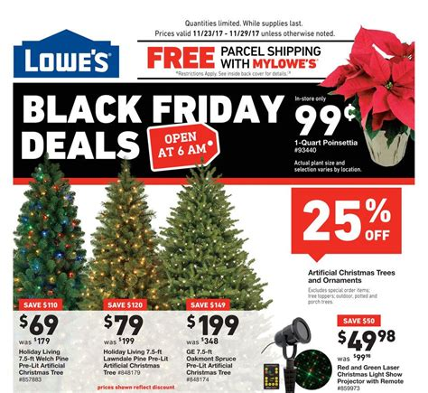 black friday sales 2018 on christmas trees lowe s black friday 2018 ads deals and sales
