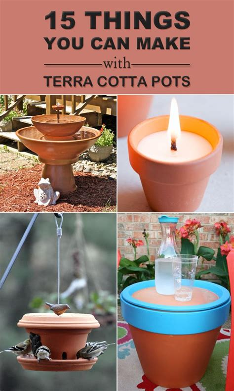 15 things you can make with terra cotta pots home decors