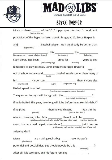 Mad Libs Letter Printable by Image Result For Free Mad Libs Related