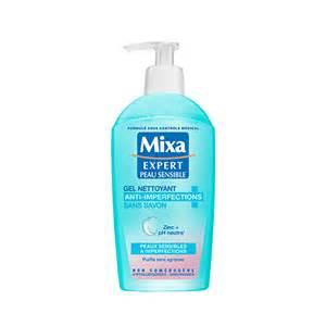 gel nettoyant sans savon anti imperfections mixa