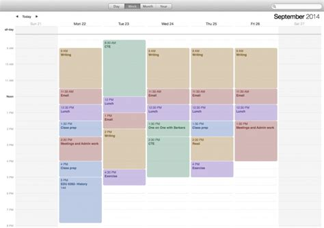 be more productive with a weekly schedule template