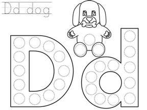 alphabet do a dot letter printables