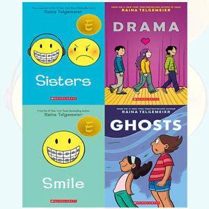 pcd smiles cookbook books raina telgemeier collection 4 books set drama