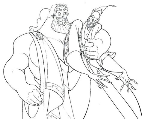 Hercules And Meg Coloring Pages