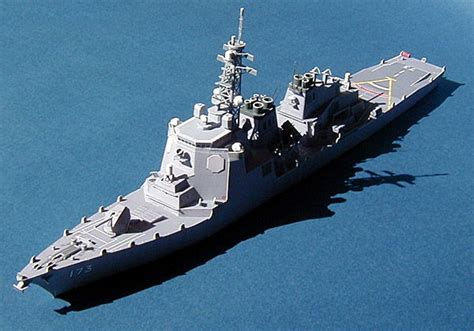 Destroyer Papercraft - jds kongo guided missile destroyer free ship paper model