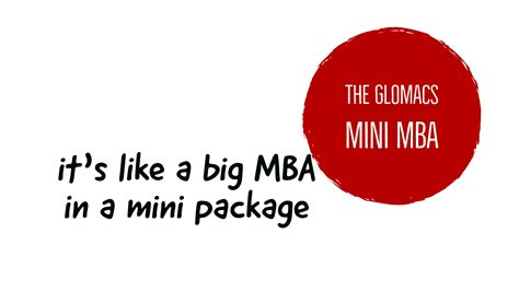 Mini Mba Canada by Why A Mini Mba Is Worthy Of Your Consideration Glomacs