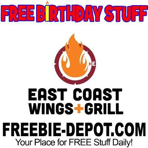 East Coast Wings Gift Card - birthday freebie east coast wings grill freebie depot