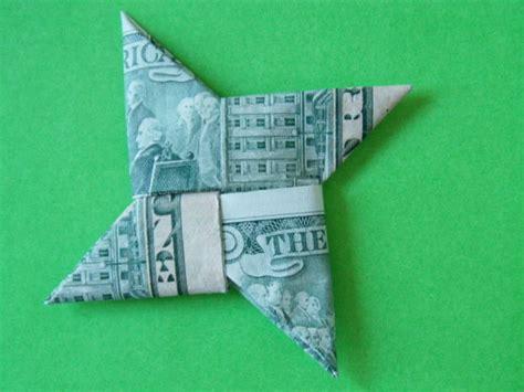 Step By Step Dollar Bill Origami - dollar bill shuriken origami now with