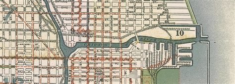 chicago map 1900 chicago in the 1890s