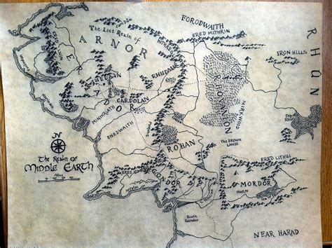 map of the middle earth map of middle earth by alysiagail on deviantart