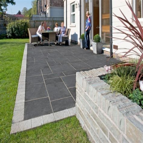 Black Limestone Patio Slabs by Kotah Black Indian Limestone Calibrated Patio