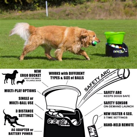 fetch machine launcher for dogs i godoggo fetch machine tennis thrower for dogs on