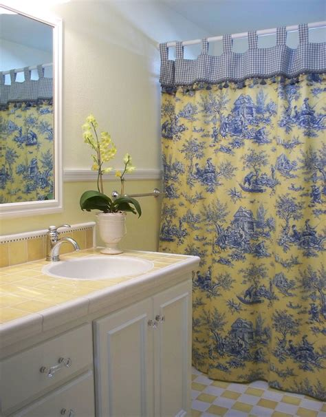 blue and yellow bathroom ideas lovely custom shower curtains decorating ideas