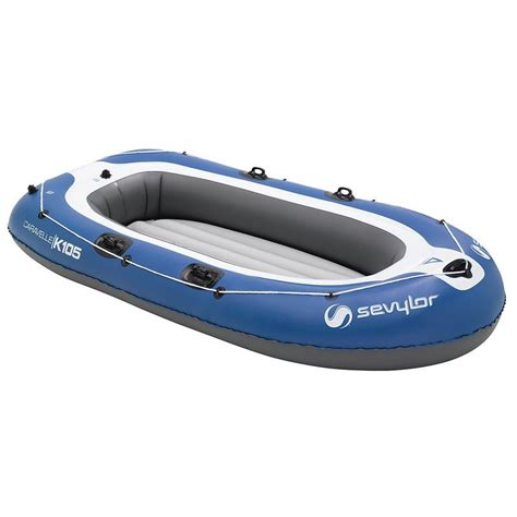 inflatable boat decathlon caravelle k105 inflatable boat blue grey decathlon