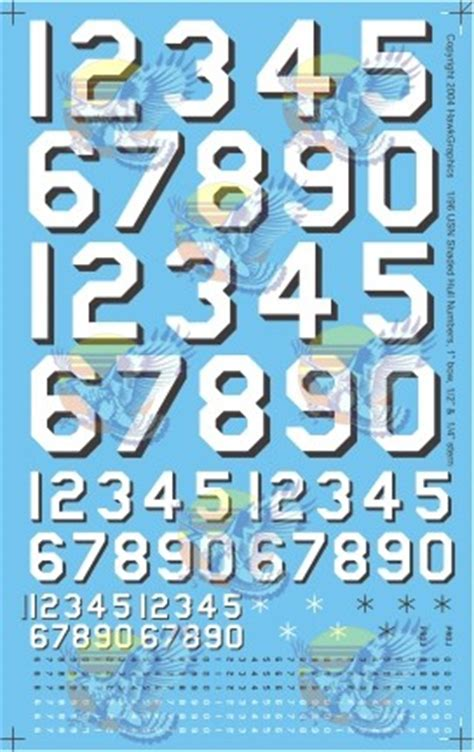 0007395205 number the stars essential modern source of decals or dry transfers in 1 96 scale