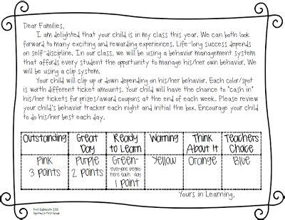 Parent Letter Grading Policy Spotted In Grade Classroom Management Clip System Or Class School Days