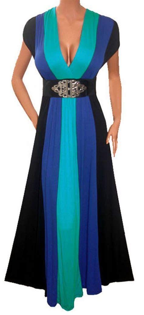 funfash womens plus size slimming black color block long