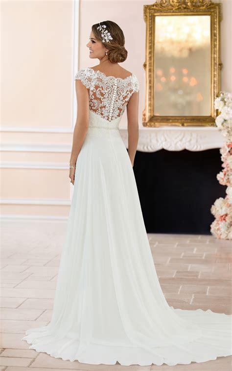 Wedding Dress Lace Back by The Shoulder Lace Back Wedding Dress Stella York