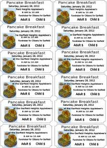 Pancake Breakfast Ticket Template by Pancake Breakfast Clip At Clker Vector Clip