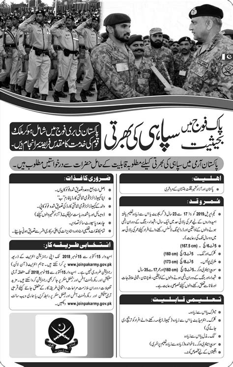 Join Pak Army As Soldier 2018 Online Registration, Eligibility