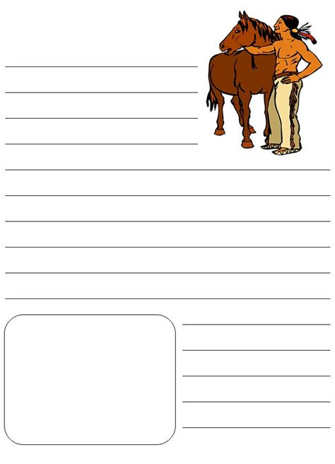 native american printable writing paper pin by kim sorgius not consumed on homeschool horse