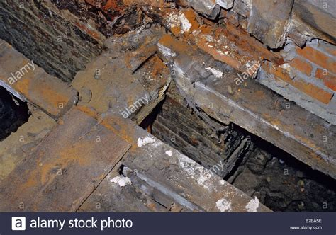 buying a house with dry rot wet rot coniophora cerebella cellar rot affection woodwork in old stock photo royalty free
