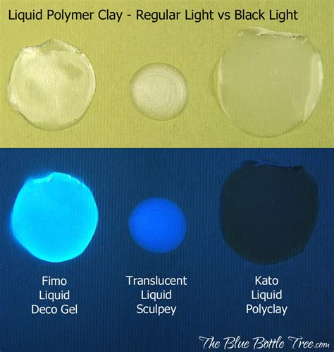 liquids that glow under black light optical brighteners in polymer clay the blue bottle tree