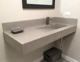 concrete bathroom sinks floating concrete ada sink by trueform concrete trueform