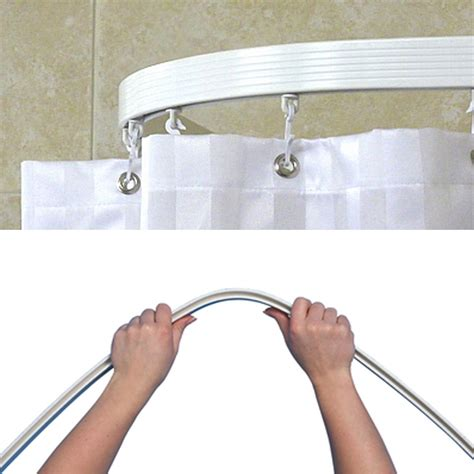 flexible shower curtain track track curtains ceiling