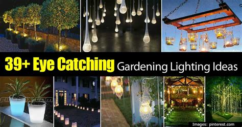 Diy Backyard Projects Pinterest 39 Eye Catching Gardening Lighting Ideas