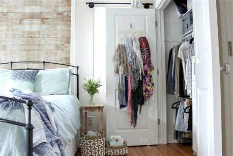 small closet organizing   crazy craft lady