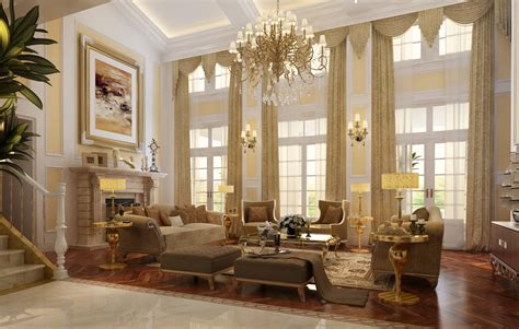 Luxury Fireplaces by Luxury Living Room With Fireplace 3d Model Max Cgtrader